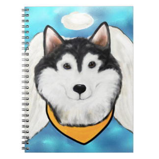 Angel Alaskan Malamute Notebook