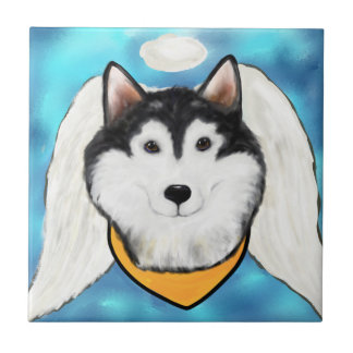 Angel Alaskan Malamute Tile