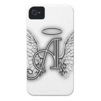Angel Alphabet A Initial Latter Wings Halo iPhone 4 Case