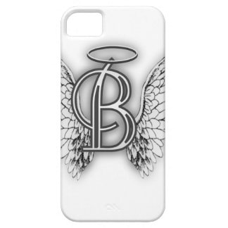 Angel Alphabet B Initial Latter Wings Halo iPhone 5/5S Cases