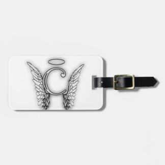 Angel Alphabet C Initial Latter Wings Halo Luggage Tag