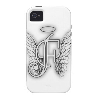 Angel Alphabet F Initial Latter Wings Halo Vibe iPhone 4 Cover