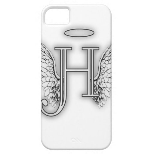 Angel Alphabet H Initial Latter Wings Halo iPhone 5 Cases