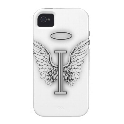 Angel Alphabet I Initial Letter Wings Halo iPhone 4/4S Covers