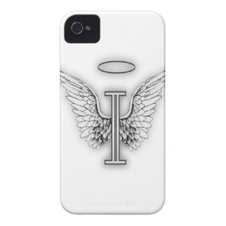 Angel Alphabet I Initial Letter Wings Halo iPhone 4 Case