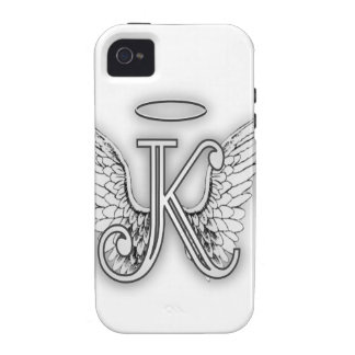 Angel Alphabet K Initial Letter Wings Halo iPhone 4 Cover