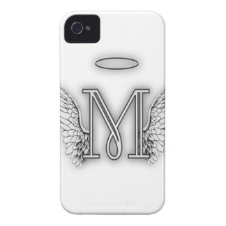 Angel Alphabet M Initial Letter Wings Halo iPhone 4 Cover