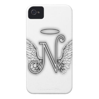 Angel Alphabet O Initial Letter Wings Halo Case-Mate iPhone 4 Case