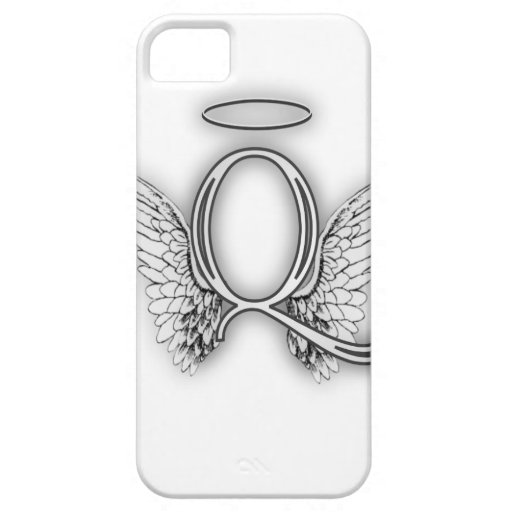 Angel Alphabet Q Initial Letter Wings Halo iPhone 5/5S Covers
