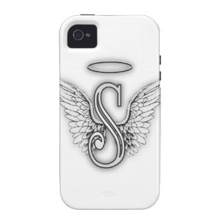 Angel Alphabet S Initial Letter Wings Halo Vibe iPhone 4 Covers