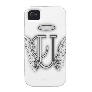 Angel Alphabet U Initial Letter Wings Halo Case-Mate iPhone 4 Cover