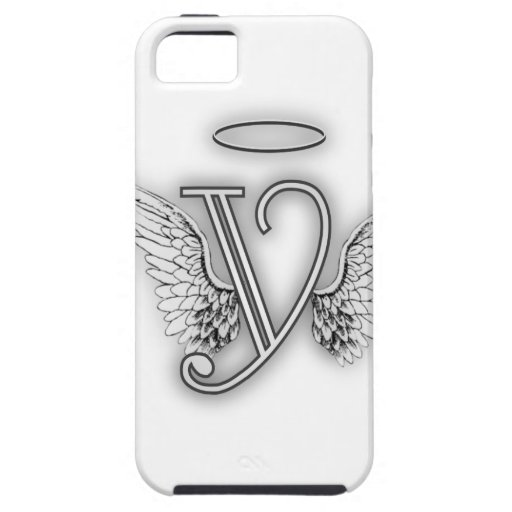 Angel Alphabet Y Initial Letter Wings Halo iPhone 5/5S Case