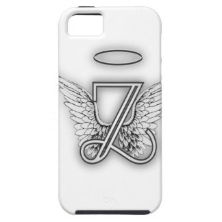 Angel Alphabet Z Initial Letter Wings Halo iPhone 5 Case