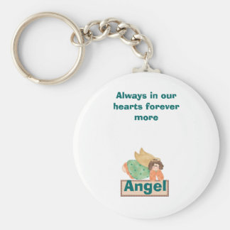 Angel, Always in our hearts forever more Keychain
