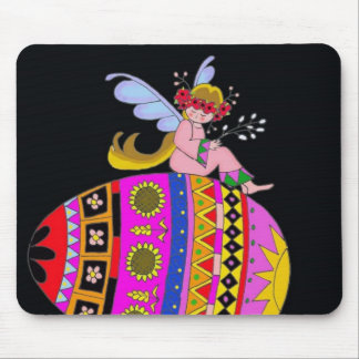 Angel and a Pysanka, Ukrainian Folk Art Mouse Pad