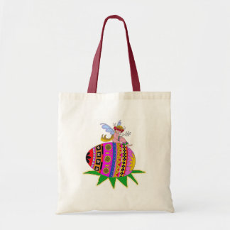 Angel and a Pysanka Ukrainian Folk Art Tote Bag
