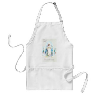 Angel and Cherubs Church Window Vintage Easter Aprons