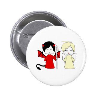 Angel and devil 2 inch round button