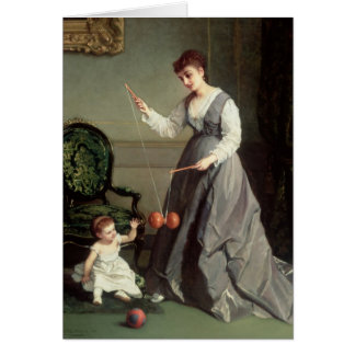 `Angel and Devil' or `Playing Diabolo Greeting Card