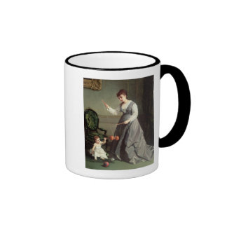 `Angel and Devil' or `Playing Diabolo Ringer Coffee Mug