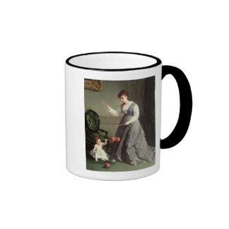 `Angel and Devil' or `Playing Diabolo Ringer Mug