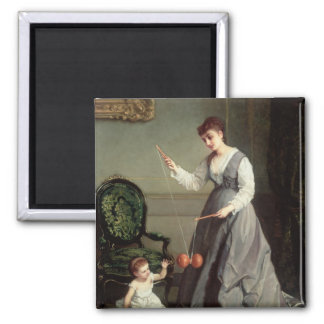 `Angel and Devil' or `Playing Diabolo Square Magnet