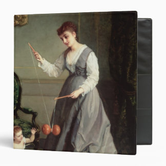 `Angel and Devil' or `Playing Diabolo Vinyl Binder