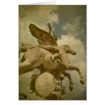 Angel and Horse Statue Greeting Card