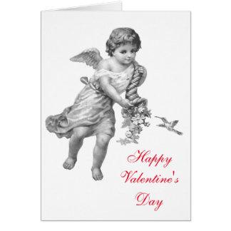 Angel and Humming Bird Valentine's Card (Blank)