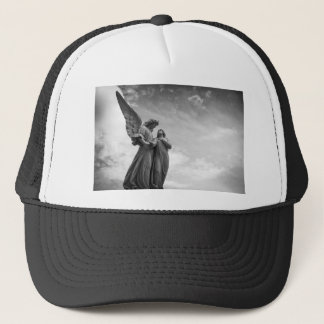 Angel and soul christian sculpture trucker hat