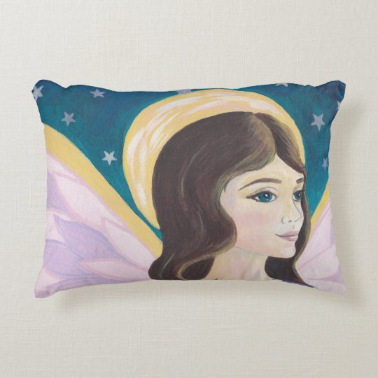 Angel and stars pillow