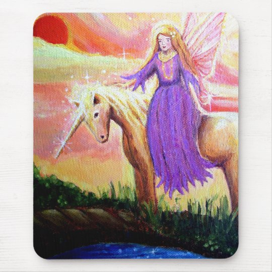 Angel and Unicorn Mouse Pad