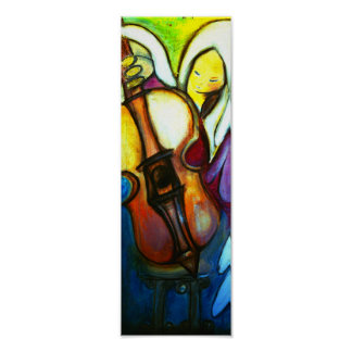 Angel and Violin Poster
