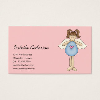 Angel Antics · Angel · Blue Business Card