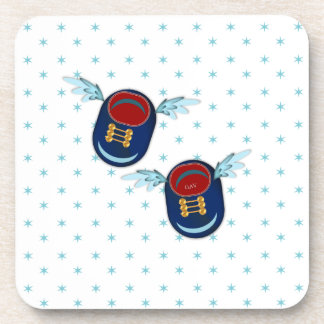 angel baby shoes coaster
