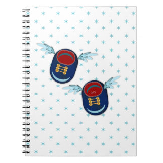 angel baby shoes spiral notebook