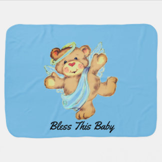 Angel Bear Baby Blanket