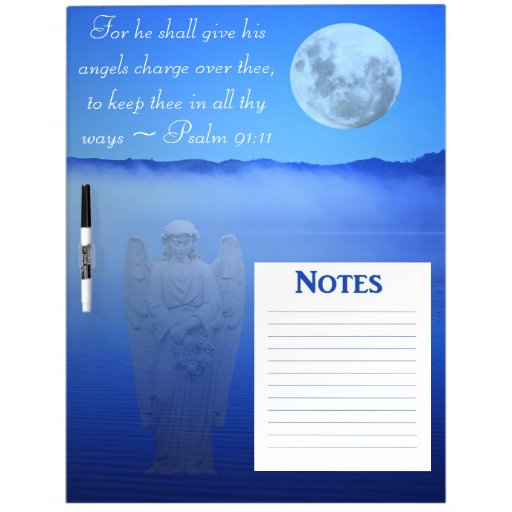 Angel Bible Quote Dry Erase Board