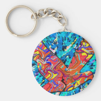 Angel Bird Basic Round Button Keychain
