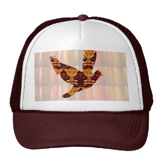 ANGEL bird TEMPLATE Colored easy to ADD TEXT and I Trucker Hats