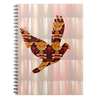 ANGEL bird TEMPLATE Colored easy to ADD TEXT and I Spiral Note Books