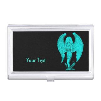 Angel , Black and Green design Business Card Holder
