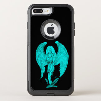 Angel , Black and Green design OtterBox Commuter iPhone 8 Plus/7 Plus Case