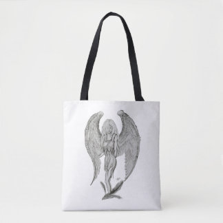 Angel , Black and White design Tote Bag