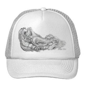 Angel blured trucker hat