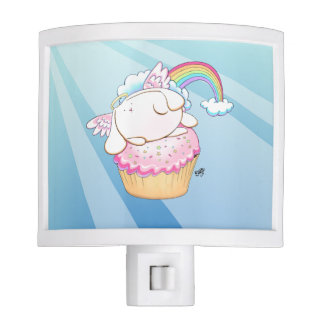 Angel Bunny Riding a Cupcake Nightlight Nite Lights