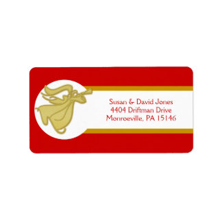 Angel business christmas greeting label