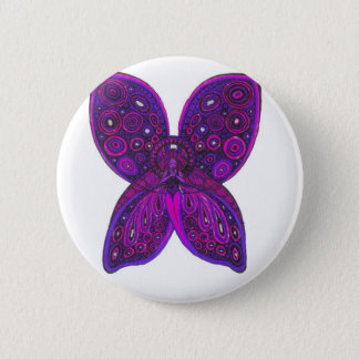 Angel Butterfly in Pink and Purple 2 Inch Round Button