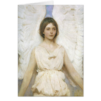 Angel by Abbott Thayer, Vintage Victorian Fine Art Card