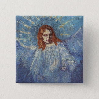 Angel by Vincent van Gogh 2 Inch Square Button